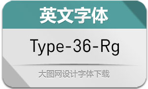 Type-36-Regular(英文字体)