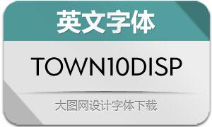 Town10Display系列8款英文字体