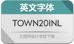 Town20Inline系列8款英文字体