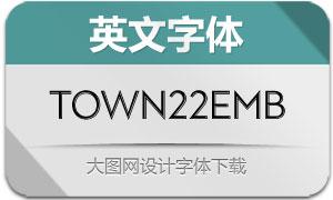 Town22Emboss系列8款英文字体