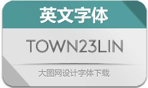 Town23Lines系列9款英文字体
