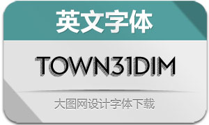 Town31Dimensional系列16款字体