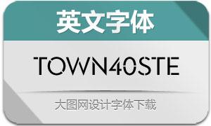 Town40Stencil系列11款英文字体