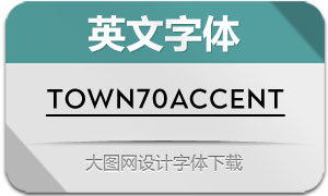 Town70Accent系列16款英文字体