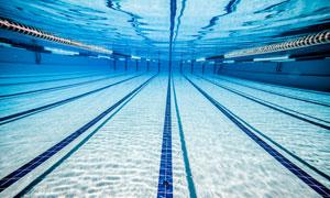 高规格室内游泳池水下摄影高清图片