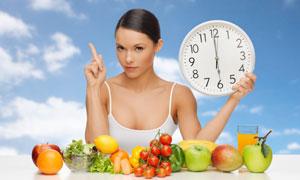 规律膳食主题美女人物摄影高清图片