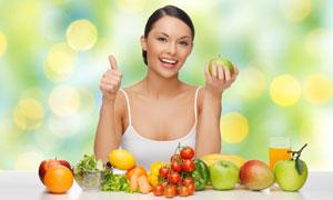 健康膳食营养主题美女摄影高清图片