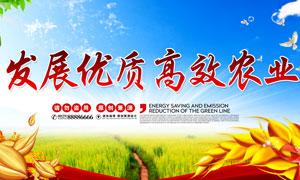 发展优质农业宣传海报设计PSD素材