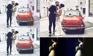 中文版婚礼随拍照片后期调色PS动作