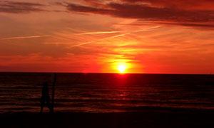 黄昏大海晚霞自然风光摄影高清图片