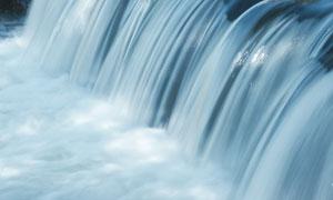 流速湍急瀑布美景特写摄影高清图片