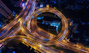 城市交通高架桥梁景观摄影高清图片
