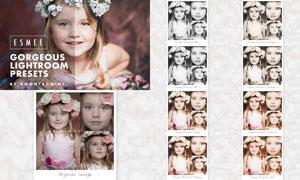 儿童照片后期复古怀旧效果LR预设