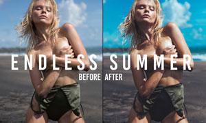 夏季主题人像后期美化处理LR预设