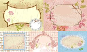 装饰图案与古典风格的边框矢量素材