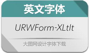 URWForm-ExtraLightIt(英文字体)