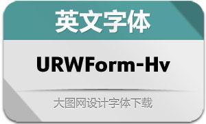 URWForm-Heavy(英文字体)
