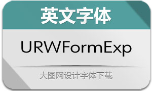 URWFormExpand系列20款英文字体