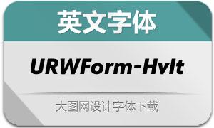 URWForm-HeavyItalic(英文字体)