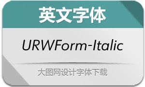 URWForm-Italic(英文字体)