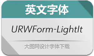 URWForm-LightItalic(英文字体)