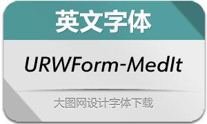 URWForm-MediumIt(英文字体)