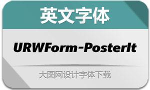 URWForm-PosterItalic(英文字体)