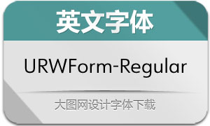 URWForm-Regular(英文字体)