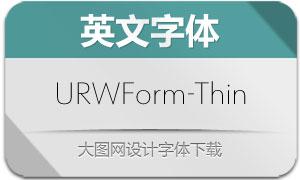 URWForm-Thin(英文字体)