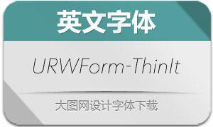 URWForm-ThinItalic(英文字体)