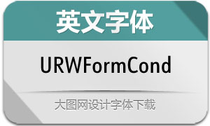 URWFormCond系列20款英文字体