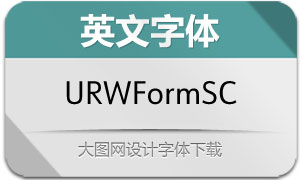 URWFormSemiCond系列20款字体