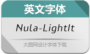 Nula-LightItalic(英文字体)