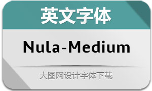 Nula-Medium(英文字体)