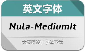 Nula-MediumItalic(英文字体)