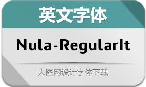 Nula-RegularItalic(英文字体)