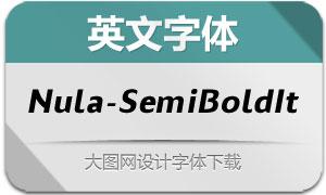 Nula-SemiBoldItalic(英文字体)