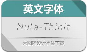 Nula-ThinItalic(英文字体)