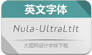 Nula-UltraLightItalic(英文字体)