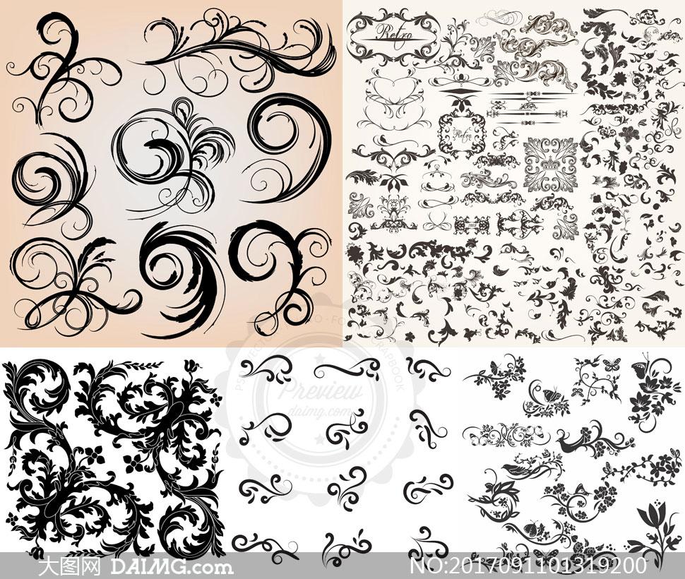 欧式古典装饰分割线边框花边分隔线 注意事项: 大图网所有作品均是