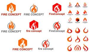燃烧着的火焰图形创意设计矢量素材