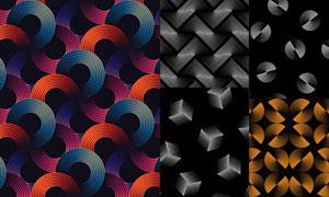 点线元素组合平面构成创意矢量素材