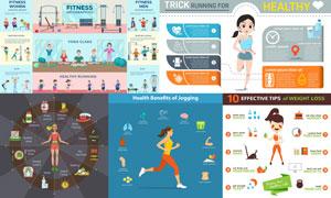 减脂瘦身主题信息图表创意矢量素材