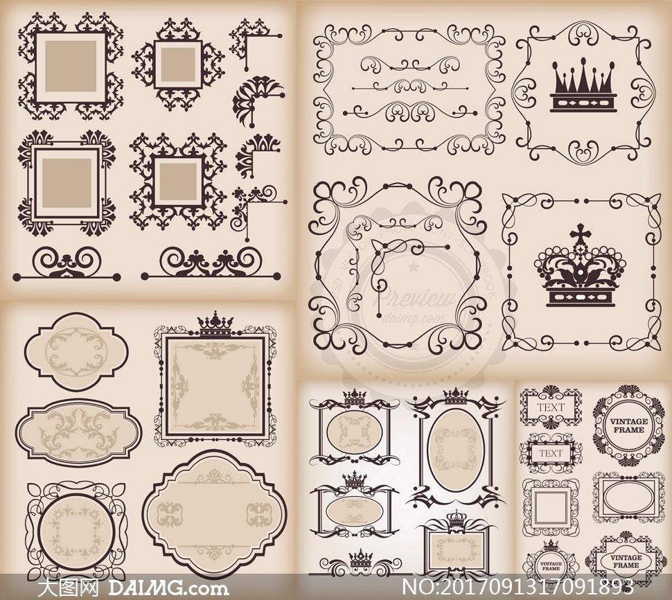 关 键 词: 矢量素材矢量图设计素材欧式古典怀旧复古花纹图案边框