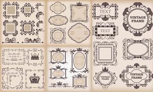 古典风格花边花角装饰元素矢量素材