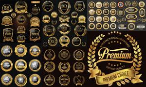 商品促销活动适用金色标签矢量素材
