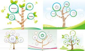 以树木为元素插画创意矢量素材V01