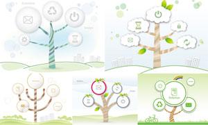 以树木为元素插画创意矢量素材V03