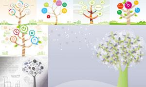 以树木为元素插画创意矢量素材V04