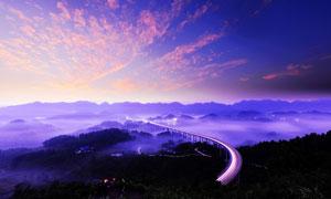 重庆周家山大桥,美丽夜景摄影图片
